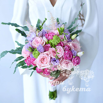 Букет невесты из роз и фрезии